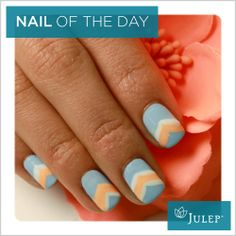 Nail of the Day: Hint of Chevron #NOTD #Nails