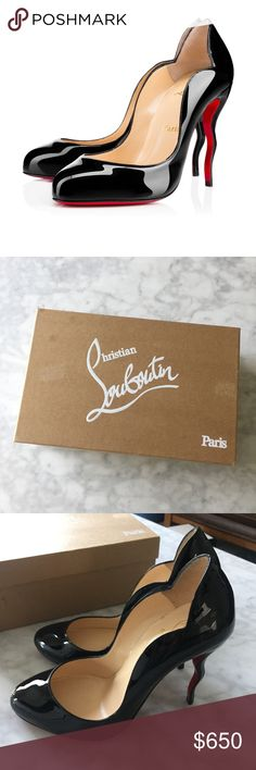 Christian Louboutin Wawy Dolly Pumps *NEW* Brand new! Christian Louboutin wawy dolly pumps! Size 38! Patent leather pumps styled shoes it's wavy stiletto heel! 🚫NO TRADES🚫 Christian Louboutin Shoes Heels