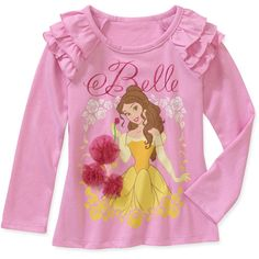 For  cHi Disney Baby Girls' Belle Graphic Tee: Baby Clothing