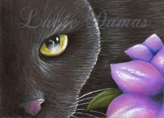 Art Print 5x7 from ACEO Cat 561 painting by Lucie by artbyLucie, $10.00
