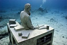 cancun - unusual musem - Cancun's underwater sculpture park. Very cool #ExpediaThePlanetD vacation