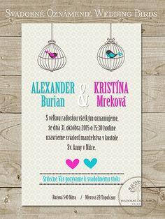 Svadobné oznámenie Wedding Birds