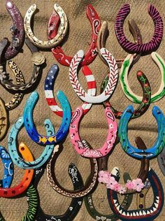 Painted Horse Shoes