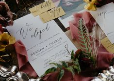 Flower by BW Events Photography by Cory Media Group Stationary by Trademark Inspired Silver Platter rented from Sweet Life Vintage Rentals