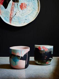 Lyra vase & Lynx vase | Kaz Morton Ceramics