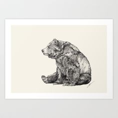 Buy Bear // Graphite by Sandra Dieckmann as a high quality Art Print. Worldwide shipping available at Society6.com. Just one of millions of products…