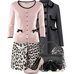 A fashion look from January 2015 featuring pink tops, orla kiely coat and leopard skirt. Browse and shop related looks.