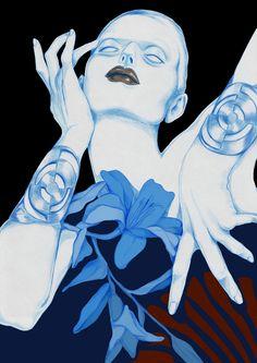Illustration.Files: Dries Van Noten F/W 2014 Inspired Fashion Illustration by Artaksiniya