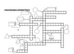 Spanish. crucigrama geométrico Occupational Therapy Activities, Math Activities, Primary Maths, Primary School, Math Teacher, Teaching Math, 5th Grade Math, Interactive Notebooks, Fun Math