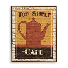 Top Shelf Coffee I Wall Art