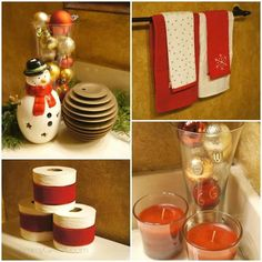 bathroom christmas deco DIY
