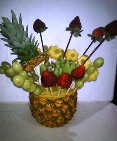 1000 images about arreglos de frutas on pinterest fruit - Arbol de pina ...