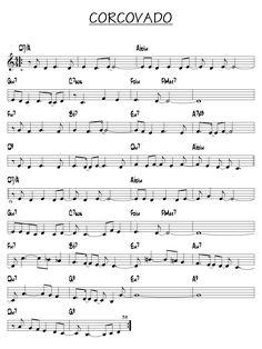 Partition Corcovado piano guitare