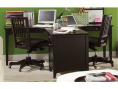 E2 Class Midtown Dual T Office Desk by Aspen Home - Max Furniture