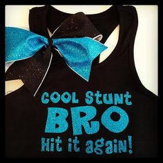 The Vinyl Studio | Cheer Bows tank and bow