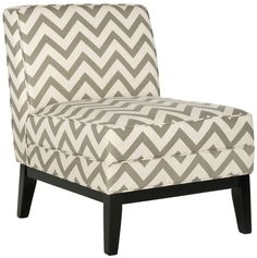 Armond Chair MCR1006C $369  Description :  Styled for maximum impact in minimal space, the transitional Armand chair by Safavieh marries form and function. The chic grey and white zigzag chevron motif is printed on a crisp blend of cotton and linen, and birch legs in dark brown finish add fashion flair. The Armand chair looks great in pairs in a conversation grouping, or use it alone in bedrooms or as a reading chair in the living room or family room.  Features :  Color : Grey/white Zig