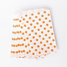 Orange Polka Dot Fav