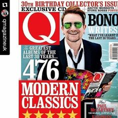 #Repost @qmagazineuk  Happy birthday... To us! Get Q's 30th Birthday Special Issue featuring Bono in the sea, the Modern Classics of our lifetime and much more. On sale in print and on digital from Tuesday, 31 May 2016 #Q361 #U2 #Bono  #U2 #u2memes #U2NewsIT #Bono #BonoVox #singer #qmagazine #cover #magazine #rock #music #rockmusic #2010s #2010smusic