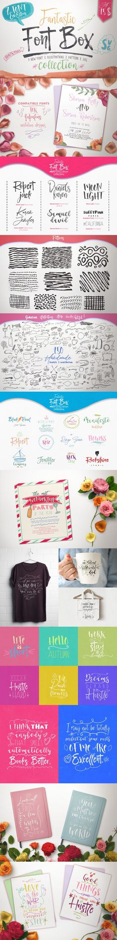 %75Off Fantastic Font Box Collection. Script Fonts. $15.00