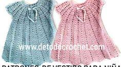 Todo Crochet Vestidos Bebe Crochet, Peplum, Outfits, Tops, Dresses, Women, Baby, Fashion, Crochet Baby Dresses