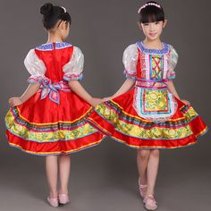 Women girls kids red High quality Traditional Russian national costume Princess dance dress costume stage clothes dance dresses-in Chinese Folk Dance from Novelty & Special Use on Aliexpress.com | Alibaba Group