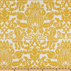 Fabric.com -- Lots of great home dec fabrics like this Premier Prints Amsterdam Slub Yellow/White