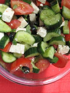Lebanese Salad Lebanese Salad, Lebanese Cuisine, Lebanese Recipes, Cucumber Recipes, Salad Recipes, My Recipes, Cooking Recipes, Whole Wheat Pita, Healthy Food