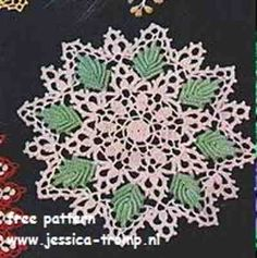 Green Leaf Doily    Doilies, Doilies, Doilies  Star Doily Book No. 87  American Yarn Company  1951