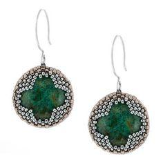 """Colville Creek Earrings"" | Fusion Beads Inspiration Gallery. FREE PDF PATTERN"