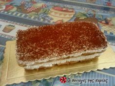 Easter Deserts, Fun Deserts, Amazing Deserts, Happy Foods, Greek Recipes, Vanilla Cake, Tiramisu, Sweet Tooth, Recipies