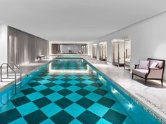 Bay Bed by the pool at The Baccarat Hotel New York