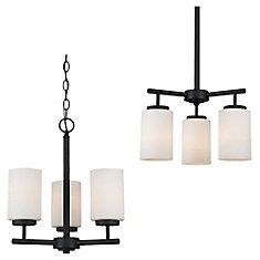 Sea Gull Lighting 31160 Oslo 3 Light Wide Pillar Candle Chandelier with Etch Blacksmith Indoor Lighting Chandeliers Candle Chandelier, Chandelier Lighting, Direct Lighting, Forged Steel, Glass Etching, Incandescent Bulbs, Glass Shades, Indoor, Ceiling Lights