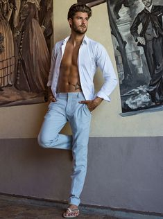 Suit and Tie Bulges - Kevin Lutolf by Tanya Tiffin Brazil Beauty, Mens Fashion Magazine, Fashion Men, Shirtless Hunks, Barefoot Men, Hero Movie, Hommes Sexy, Sexy Shirts, Suit And Tie