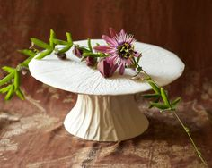 Unique Porcelain cake stand - made from very elegant yet durable porcelain, makes any cake feel like a star! Designed by Martin+Mo and made by a master porcelain maker and teacher of high crafts.