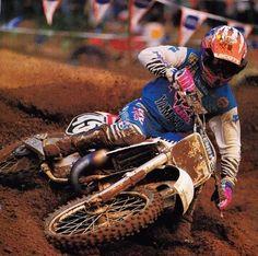 Damon Bradshaw Dirt Bike Racing, Off Road Racing, Motorcycle Bike, Yamaha Motocross, Motocross Racer, Yamaha Yz 125, Beast From The East, Vintage Motocross, Dirt Bikes