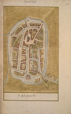 Schoemaker Atlas: Friesland, Franeker Atlas Schoemaker : images of Dutch towns and villages in the 18th century