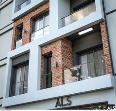 Bungalow House Design, House Front Design, Modern House Design, Modern Architecture House, Facade Architecture, Residential Architecture, Brick Facade, Facade House, Facade Design