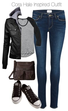 """""""Teen Wolf - Cora Hale Inspired Outfit with dark jeans"""" by staystronng ❤ liked on Polyvore featuring Paige Denim, Wilfred Free, Converse, Volcom, tw and CoraHale"""