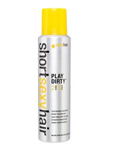 Short Sexy hair product ~ Play Dirty ~ great for FINE hair.  Gives great texture, without the sticky mess.  Provides dimension, separation & shine, without the weight.  Must try!