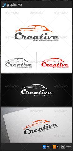 Creative Car Logo Templates — Vector EPS #creative #logo design • Available here → https://graphicriver.net/item/creative-car-logo-templates/6400251?ref=pxcr