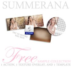 Free | Summerana #Free #Photoshop #Elements #Actions #Textures #Templates #Photographers #Photography