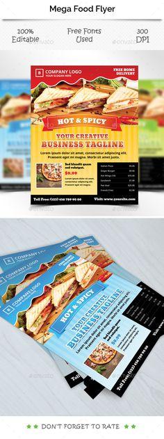 Restaurant Flyer Template  Modern Restaurant Restaurants And Flyers