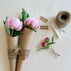 DIY Flower Favors