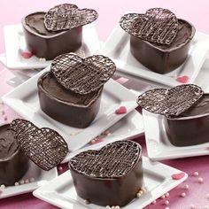 coeurs à la mousse au cacao noir et framboises / Dark Cocoa Raspberry Mousse Hearts