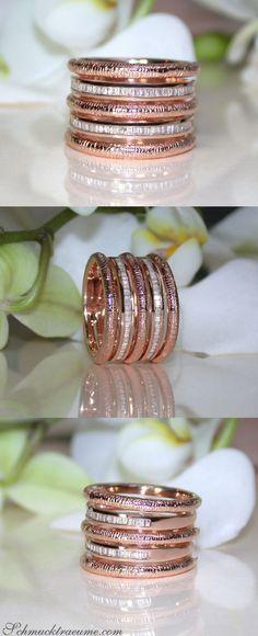 Idée et inspiration Bijoux :   Image   Description   Puristischer Roségold Ring mit Diamanten | Puristic Rosegold Ring with Diamonds | Explore: Schmucktraeume.com | Like: www.facebook.com/…
