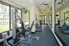 Whether it's a small nook or an entire room, homeowners are starting to make exercise rooms a priority. - To make any exercise room the best it can be, we recommend investing in durable rubber flooring!  #rubberflooring #rubberflooringtiles #rubbertiles #homegym #homegymflow