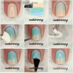Step by step sponging