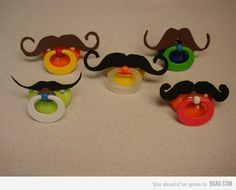 DIY moustache pacifier