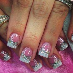 Fabulous Nails, Gorgeous Nails, Pretty Nails, Fingernail Designs, Cute Nail Designs, Acrylic Nail Art, Acrylic Nail Designs, Hot Nails, Pink Nails