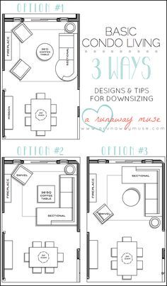 A Runaway Muse Designs Tips For Downsizing To Condo Living Interiordesign Room Layout Ideas